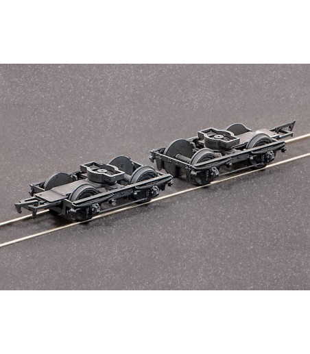 Ratio LNWR 8ft Coach Bogies & wheels x 2 All Gauges 108