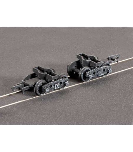 Ratio Pr. GWR Plate Wagon Bogies, (spoked wheels) All Gauges 126