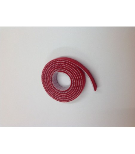 10mm Wide Velcro (loops & hooks integrated) 1 Meter - Red