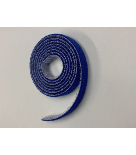 10mm Wide Velcro (loops & hooks integrated) 1 Meter - Blue