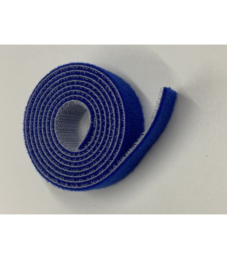 20mm Wide Velcro (loops & hooks integrated) 1 Meter - BLUE