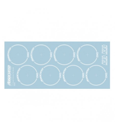 ASSOCIATED RC10F6 TYRE DECALS WHITE