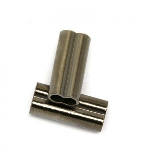 double sleeve crimping ferrules 0.8mm for 0.6mm wires 10 pack