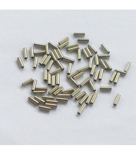 single sleeve crimping ferrules 2.0mm for 1.0mm wires 10 pack