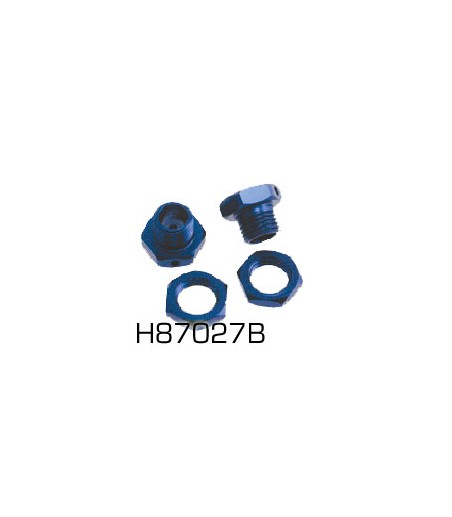 HoBao Hyper 7 Blue Wheel Hub Set (Hbm6-A/B Large Axle Only)