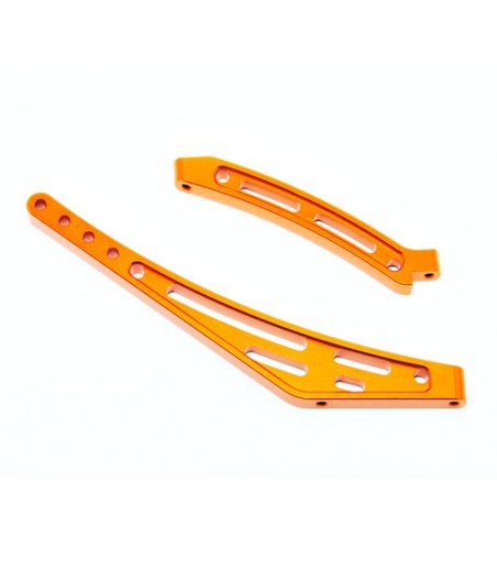 HOBAO HYPER SS CAGE TRUGGY CNC F/R CHASSIS STIFFENER SET