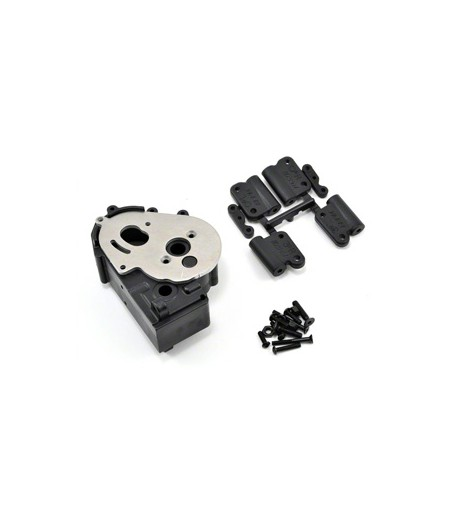 RPM TRAXXAS 2WD HYBRID GEARBOX HOUSING AND REAR MOUNTS BLACK
