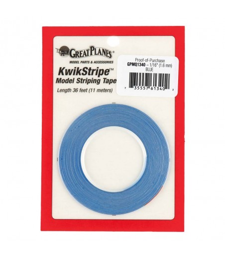 "GPLANES Striping Tape Blue 1/16"" (1.5mm x 11m) T-GPMQ1340"