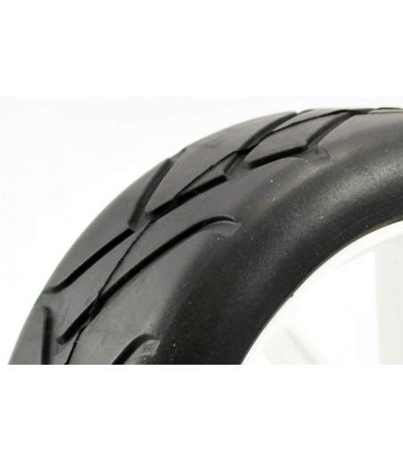 FASTRAX 1/8TH PREMOUNTED SLICK TYRES 'GRID IRON/10 SPOKE'