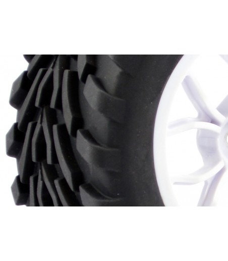 FASTRAX 1/10 MEGA-V TRUCK TYRE MOUNTED ON 12-SPOKE (12mm HEX)