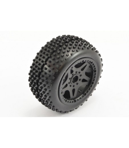 DURATRAX Equalizer 1/10 Buggy Tire 4WD Front C2 Mtd Kyosho (2) G-DTXC3924