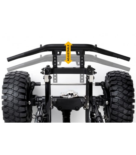 GMADE GS01 FRONT TUBE BUMPER WITH SKID PLATE BLACK 2