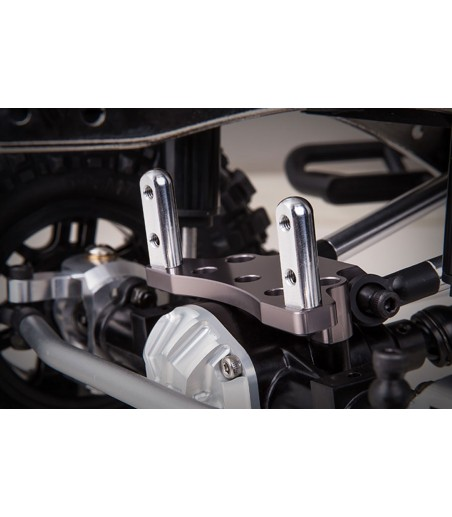 GMADE FRONT UPPER LINK MOUNT (TITANIUM GREY) FOR GS01 AXLE 2
