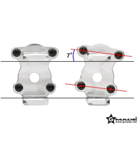 GMADE ALUMINUM C-HUB CARRIER 7 DEGREE (2) FOR R1 AXLE 2