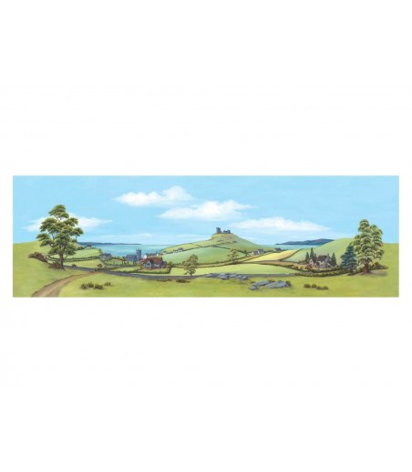 Peco Medium background Country Seascape 178mm x 559mm (7in x 22in)