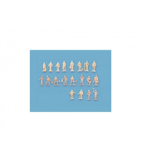 Peco Assorted Unpainted Figures set A n Gauge peco5156