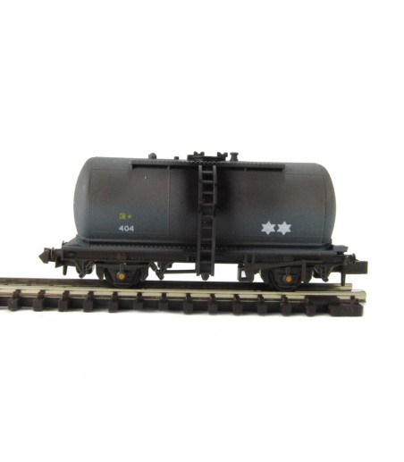 Peco Tank Wagon (type C), Regent Oil, black,Weathered N Gauge NR-P77W