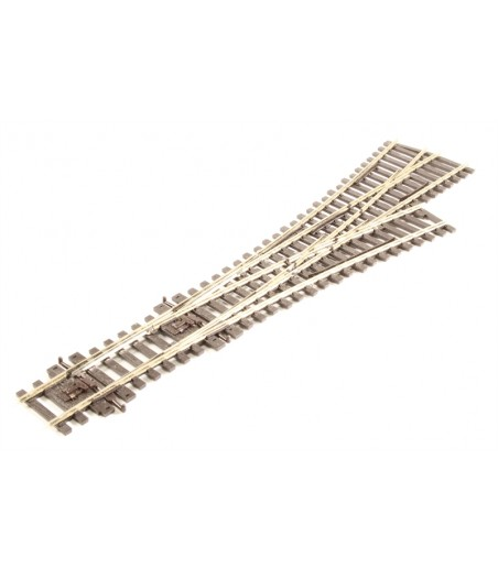 Peco Asymmetric 3 Way Turnout, medium radius OO/HO Gauge SL-E199