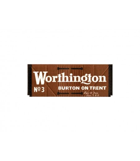 Peco Box Van, Worthington, brown OO Gauge R-72W