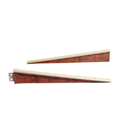 Peco Platform Edging Ramps, brick type OO Gauge LK-66