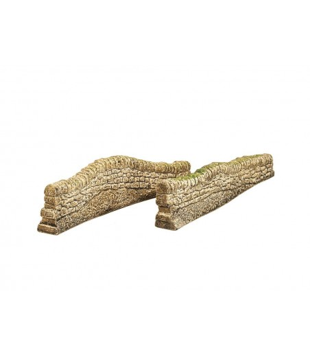 HARBURN HOBBIES Dry Stone Contoured Wall - Straight (set of 2) OO Gauge CG215