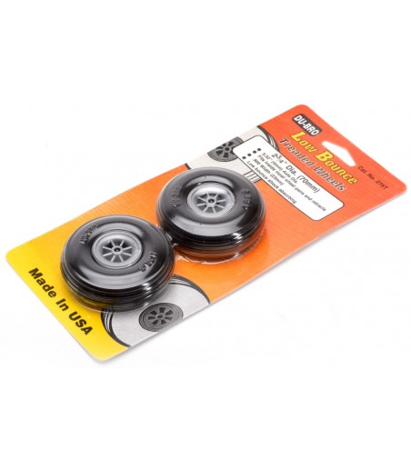 """Dubro 2-3/4"""" (69.85mm) Wheels with Treaded Tyres (Pair)"""