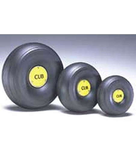 Dubro 1/5 Scale J-3 Cub Wheel Replacement Cub Caps (2 Pack)