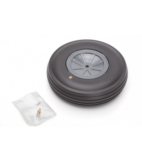 """Dubro 4-1/2"""" (114mm) Large Scale Treaded Wheel"""