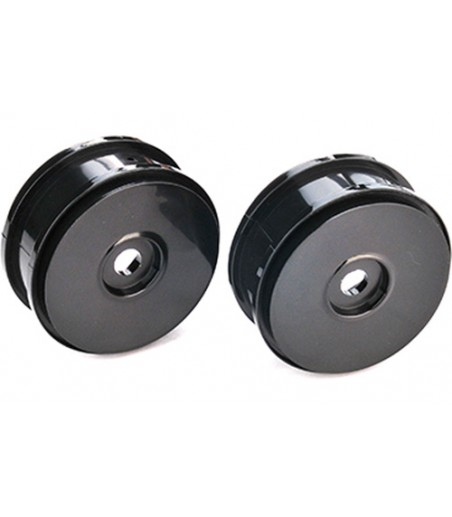 1:8 Dish Wheels 17mm Hex - Black