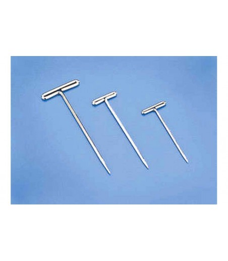 "Dubro 1.50"" (38.1mm) Nickel Plated T-Pins (100 Pack)"