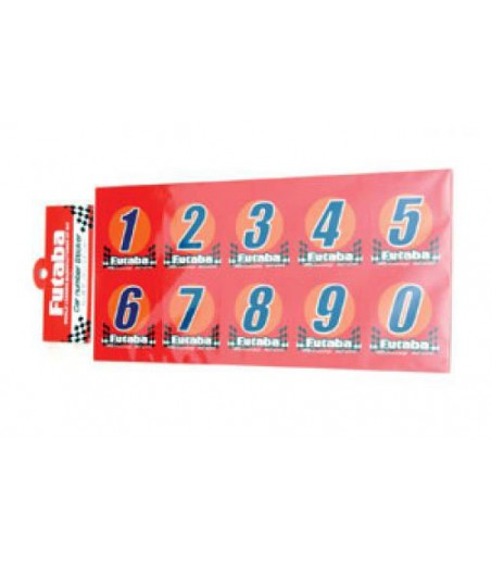 Futaba Racing Numbers(3sets Of 0~9) (U-FDEC-20)
